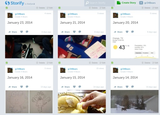 A snapshot of our archived classroom tweets via Storify.